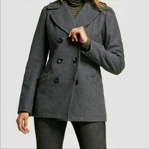 Merona | Women's Gray Wool Blend Peacoat (L 12/14)